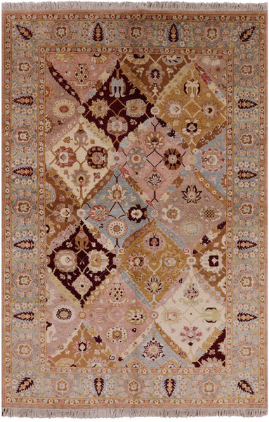Multi-Color Peshawar 6 X 9 Chobi Rug - Golden Nile