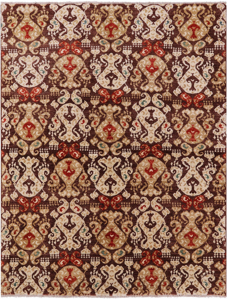 Brown Ikat Collection 6 X 8 Rug - Golden Nile