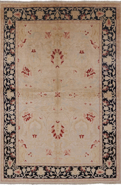 "Peshawar Handmade Wool Area Rug - 6' 1"" X 9' 0"" - Golden Nile"