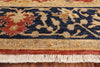 6 X 9 Red/Navy Blue Chobi Peshawar Rug - Golden Nile