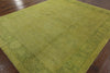 8 X 10 Antique Green Chobi Wool Rug