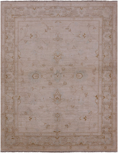 Oriental Antiqued Wash Peshawar 5 X 6 Rug - Golden Nile
