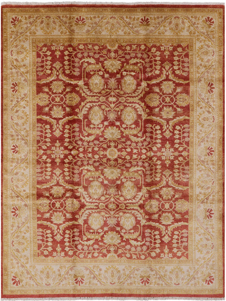 "Peshawar Hand Knotted Rug - 7' 10"" X 10' 2"" - Golden Nile"