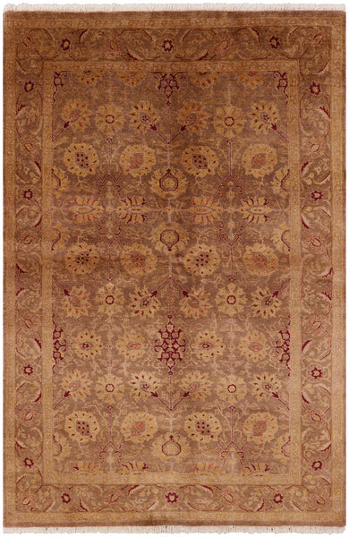 "Peshawar Hand Knotted Wool Rug - 5' 10"" X 9' - Golden Nile"