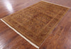 6 X 9 Brown Peshawar Rug -  Golden Nile