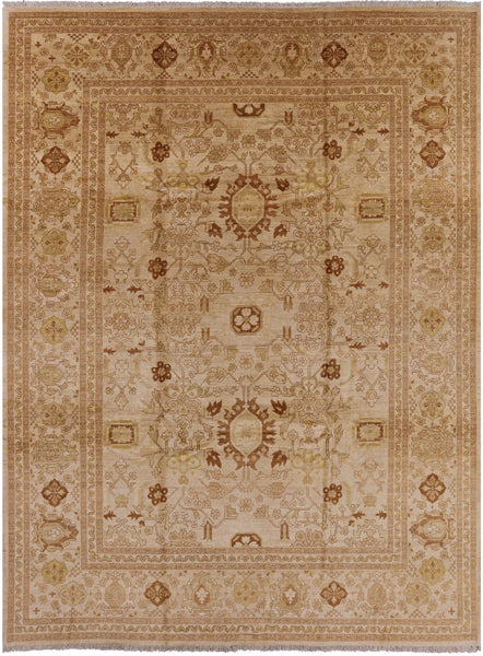 "Peshawar Hand Knotted Rug - 9' 1"" X 12' - Golden Nile"