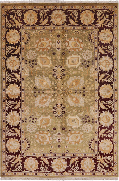 "Peshawar Hand Knotted Area Rug - 6' 2"" X 9' - Golden Nile"