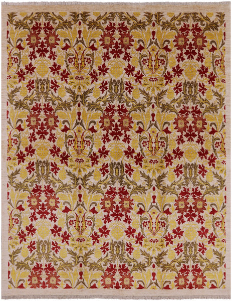 "William Morris Hand Knotted Wool Area Rug - 4' 10"" X 7' 9"" - Golden Nile"