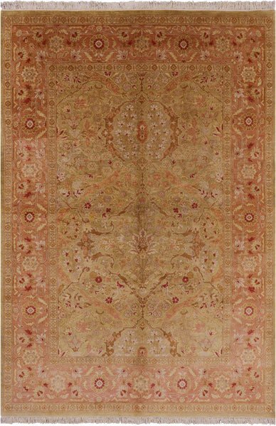 "Peshawar Hand Knotted Area Rug - 6' 1"" X 8' 10"" - Golden Nile"