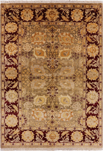 "Peshawar Hand Knotted Wool Rug - 6' 2"" X 8' 8"" - Golden Nile"