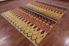 "Ikat Handmade Wool Area Rug - 8' X 10' 1"" - Golden Nile"
