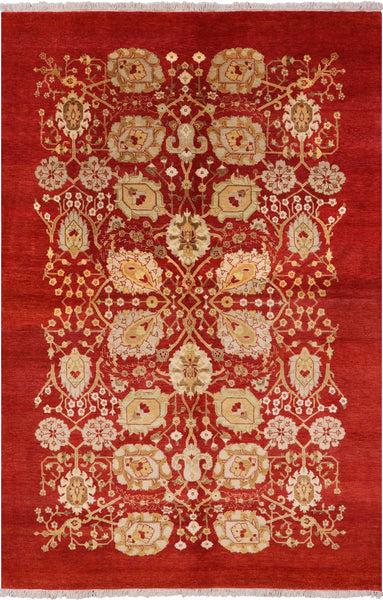 "Ziegler Hand Knotted Wool Area Rug - 5' 10"" X 8' 10"" - Golden Nile"