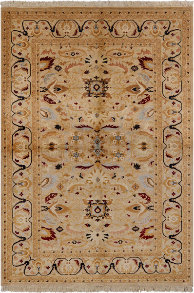 "Peshawar Hand Knotted Wool Area Rug - 6' 1"" X 8' 10"" - Golden Nile"
