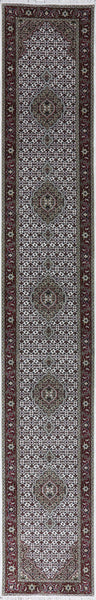 Oriental Mahi Design Wool & Silk Rug 3 X 16 -  Golden Nile