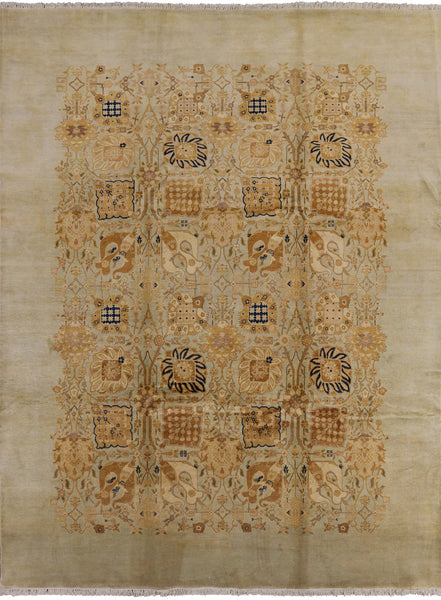 9 X 12 Peshawar Hand Knotted Oriental Rug