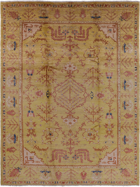 "Oriental Hand Knotted Peshawar Rug - 8' 10"" X 11' 6"" - Golden Nile"