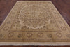 "Tabriz Hand Knotted Area Rug - 7' 10"" X 9' 10"" - Golden Nile"