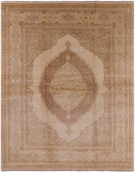 Tabriz Hand Knotted Oriental Rug 8 X 10 -  Golden Nile