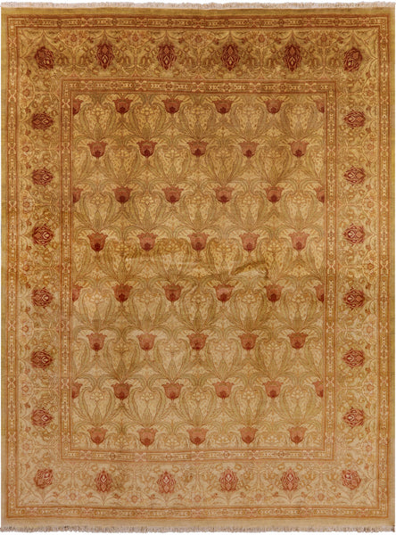 "William Morris Handmade Wool Area Rug - 8' 1"" X 10' 5"" - Golden Nile"