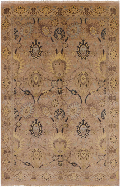 Oriental Hand Knotted Peshawar Rug 6 X 9 -  Golden Nile