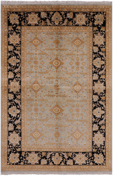 6 X 9 Peshawar Hand Knotted Rug - Golden Nile