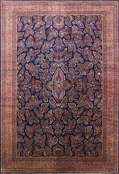 Sarouk Persian Hand Knotted Rug 12 X 18 - Golden Nile
