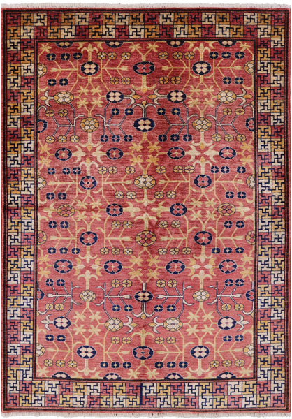 Peshawar Hand Knotted Rug 6 X 8 - Golden Nile