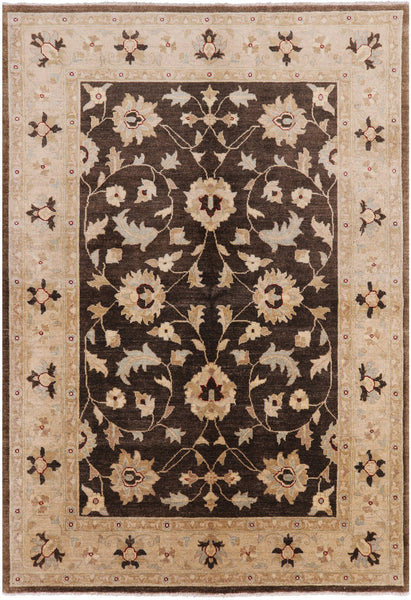 Hand Knotted Oriental Peshawar Rug 6 X 9 - Golden Nile