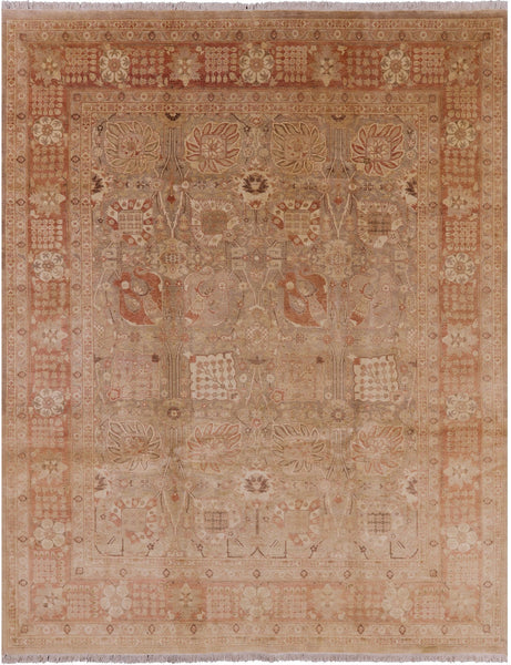 Hand Knotted Oriental Peshawar Rug 8 X 10 - Golden Nile