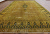 11 X 16 Tabriz Design Traditional Overdyed Area Rug -  Golden Nile
