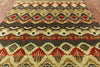 "Ikat Handmade Wool Area Rug - 7' 9"" X 9' 8'' - Golden Nile"