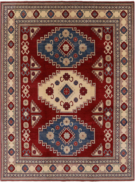 "Kazak Hand Knotted Rug - 8' 5"" X 11' 4"" - Golden Nile"