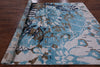 "Silk Hand Knotted Oriental Rug - 8' 1"" X 9' 10'' - Golden Nile"