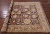 Brown Peshawar Chobi Rug 6 X 9 - Golden Nile