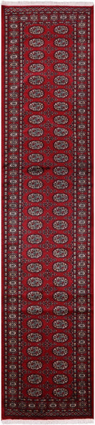 "Bokhara Hand Knotted Runner - 2' 7"" X 12' 2"" - Golden Nile"