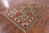 "Kazak Hand Knotted Rug - 5' 9"" X 8' - Golden Nile"