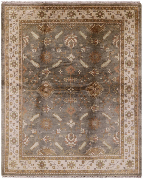 "Oushak Hand Knotted Rug - 8' 2"" X 10' - Golden Nile"
