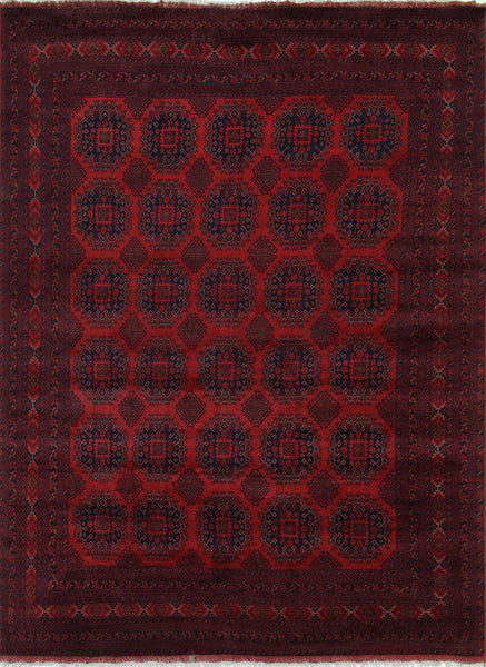 Oriental Wool On Wool Red Beljik Rug 8 X 11 - Golden Nile