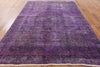 Purple 8 X 11 Oriental Over-dyed Rug - Golden Nile