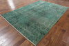 7 X 11 Green Over-dyed Rug - Golden Nile
