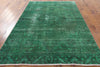 Green Over-dyed Rug 6 X 9 - Golden Nile