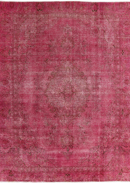 Over-dyed Pink Rug 9 X 12 - Golden Nile