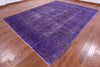 Overdyed 10 X 13 Purple Rug - Golden Nile