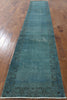 Hand Knotted Runner Overdyed Rug 3 X 16 - Golden Nile