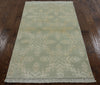 Elegant Tibetan Wool & Silk Area Rug 3 X 5 - Golden Nile