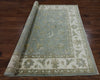 6' Peshawar Square Hand Knotted Wool Area Rug - Golden Nile