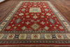 11 X 14 Hand Knoted Red Super Kazak Rug - Golden Nile