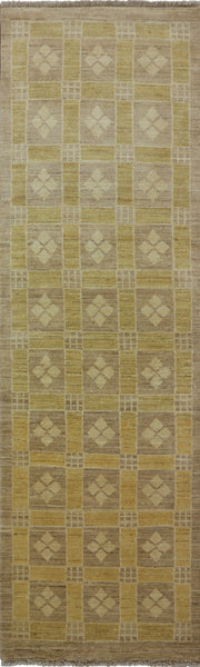 Gabbeh Hand Knotted Runner 3 X 10 - Golden Nile