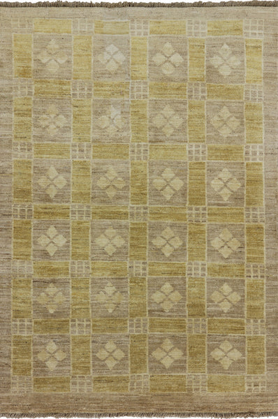 Oriental Super Fine Gabbeh Wool Area Rug 4 X 6 - Golden Nile