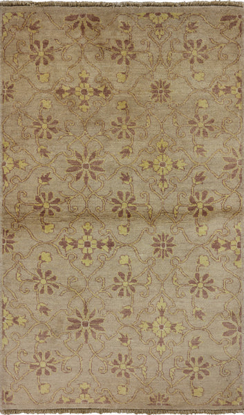 Floral Gabbeh Wool Area Rug 3 X 5 - Golden Nile